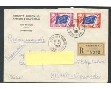 1961 - FRANCIA - 35/50 Fr. CONSIGLIO D'EUROPA - BUSTA RACCOMANDATA - LOTTO/26738