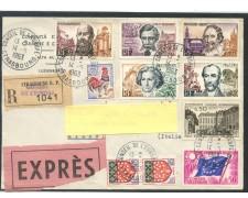 1963 - FRANCIA - RACCOMANDATA ESPRESSO PER L'ITALIA - BUSTA - LOTTO/26739