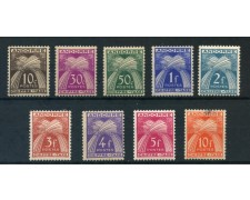 1943/1950 - ANDORRA FRANCESE - SEGNATASSE 9v. - LINGUELLATI - LOTTO/26768