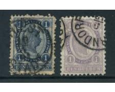 1891/1896 - AUSTRIA - 1 GULDEN AZZURRO e VIOLETTO 2V. - USATI - LOTTO/26770