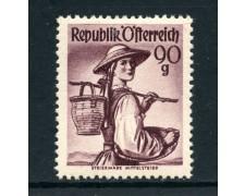1948/50 - AUSTRIA - 90g. COSTUMI STIRIA MITTELSTEIER - LING. - LOTTO/26773
