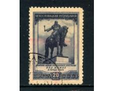 1951 - RUSSIA - 20 K. AMICIZIA CON LA CECOSLOVACCHIA - USATO - LOTTO/26871