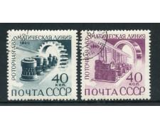 1960 - RUSSIA - AUTOMAZIONE INDUSTRIALE 2v. - USATI - LOTTO/26901