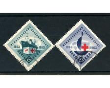 1963 - RUSSIA - CENTENARIO DELLA CROCE ROSSA 2v. - USATI - LOTTO/26929