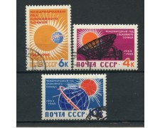 1964 - RUSSIA - ANNO GEOFISICO DEL SOLE 3v. - USATI - LOTTO/26933