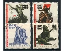 1965 - RUSSIA - 60° ANNIVERSARIO RIVOLUZIONE 4v. - USATI - LOTTO/26937