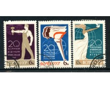 1965 - RUSSIA - ORGANIZZAZIONI DEMOCRATICHE 3v. - USATI - LOTTO/26939