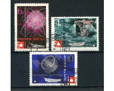 1967 - RUSSIA - ESPOSIZIONE DI MONTREAL 3v. - USATI - LOTTO/26942