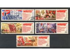 1971 - RUSSIA - 24° CONGRESSO PARTITO COMUNISTA 5v- USATI - LOTTO/26950