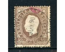 1886 - CAPO VERDE - 40 r. BRUNO - USATO - LOTTO/27026