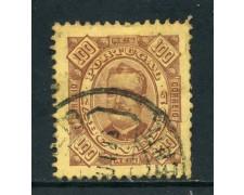 1893/94 - CAPO VERDE - 100r. BRUNO GIALLO - USATO - LOTTO/27027