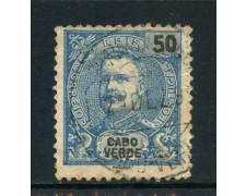1898/901 - CAPO VERDE - 50r. BLU - USATO - LOTTO/27028