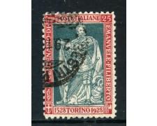 1928 - REGNO - 25c. EMANUELE FILIBERTO - USATO - LOTTO/27058
