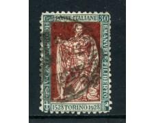 1928 - REGNO - 25c. EMANUELE FILIBERTO - USATO - LOTTO/27059