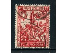 1928 - REGNO - 75c. EMANUELE FILIBERTO - USATO - LOTTO/27062