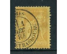 1879 - FRANCIA - 25c. GIALLO BISTRO - USATO A STRASBURGO - LOTTO/27073A