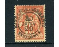 1881 - FRANCIA - 40 c. ROSSO ARANCIO - USATO - LOTTO/27074