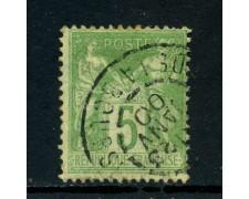 1898 - FRANCIA - 5 c. VERDE GIALLO - USATO - LOTTO/27079