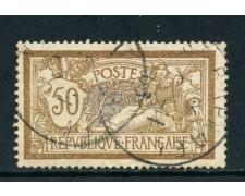 1900 - FRANCIA - 50c. ALLEGORIA TIPO MERSON - USATO - LOTTO/27087