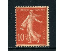 1906 - FRANCIA - 10c.ROSSO SEMINATRICE  TIPO I° - LINGUELLATO - LOTTO/27096
