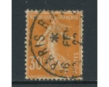 1907 - FRANCIA - 30c. ARANCIO SEMINATRICE - USATO - LOTTO/27099