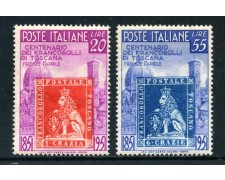 1951 - REPUBBLICA - CENTENARIO FRANCOBOLLI DI TOSCANA 2v. - NUOVI - LOTTO/27167
