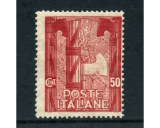 1923 - REGNO - 50c. MARCIA SU ROMA - LINGUELLATO - LOTTO/27213