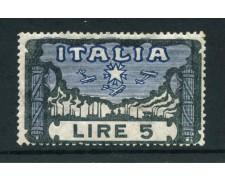 1923 - REGNO - 5 LIRE MARCIA SU ROMA - LINGUELLATO - LOTTO/27215