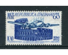 1952 - REPUBBLICA - DIRITTO AERONAUTICO - LINGUELLATO - LOTTO/27231