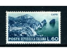 1953 - REPUBBLICA - 60 LIRE CAPRI - NUOVO - LOTTO/27235