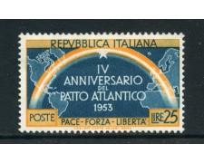 1953 - REPUBBLICA - 25 LIRE PATTO ATLANTICO - NUOVO - LOTTO/27236