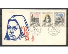 1973 - VATICANO - SANTA TERESA - BUSTA FDC VENEZIA - LOTTO/27570A