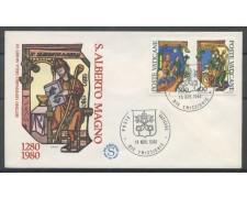 1980 - VATICANO - S.ALBERTO MAGNO - BUSTA FDC FILAGRANO - LOTTO/27726