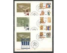 1980 - VATICANO - S.BENEDETTO DA NORCIA - 3 FDC ALA - LOTTO/27728