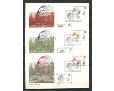 1978 - VATICANO - POSTA AEREA TELECOMUNICAZIONI - 3 FDC ALA - LOTTO/27732