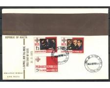 1975 - MALTA - PROCLAMAZIONE REPUBBLICA - BUSTA FDC - LOTTO/27749