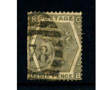 1872 - GRAN BRETAGNA - 6P. GRIGIO OLIVA - USATO DIFETTOSO - LOTTO/27809