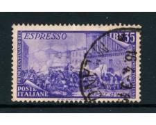 1948 - REPUBBLICA - 35 LIRE ESPRESSO RISORGIMENTO - USATO - LOTTO/27818