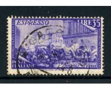 1948 - REPUBBLICA - 35 LIRE ESPRESSO RISORGIMENTO - USATO - LOTTO/27819