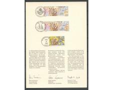 1988 - SVEZIA - 350° NUOVA SVEZIA - FOLDER CON EMISSIONE CONGIUNTA LOTTO/27834