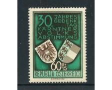 1950 - AUSTRIA - 60+15g. PLEBISCITO - LINGUELLATO - LOTTO/27900