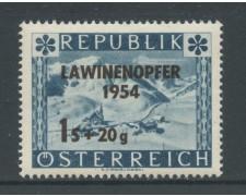 1954 - AUSTRIA - PER LE VITTIME DELLE VALANGHE - NUOVO - LOTTO/27903