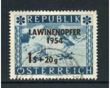 1954 - AUSTRIA - PER LE VITTIME DELLE VALANGHE - USATO - LOTTO/27904