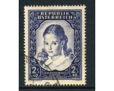 1952 - AUSTRIA - CORRISPONDENZA TRA FANCIULLI - USATO - LOTTO/27911