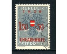 1956 - AUSTRIA - PRO RIFUGIATI UNGHERESI - USATO - LOTTO/27918