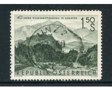 1960 - AUSTRIA - 40° ANNIVERSARIO PLEBISCITO - USATO - LOTTO/27922