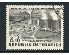 1962 - AUSTRIA - 6,40s. ENERGIA ELETTRICA - USATO - LOTTO/27928