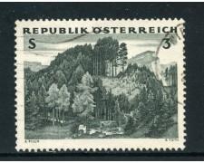 1962 - AUSTRIA - 3s. FORESTE AUSTRIACHE - USATO - LOTTO/27929