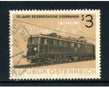 1962 - AUSTRIA - ANNIVERSARIO FERROVIE - USATO - LOTTO/27930
