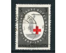 1963 - AUSTRIA - CENTENARIO CROCE ROSSA - USATO - LOTTO/27932